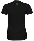 Women's Athletic Shirts - Charcoal w/ Neon Green