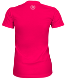 Women's Athletic Shirts - Raspberry w/ White