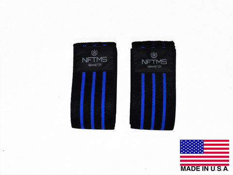 Athlete Knee Wraps - Black w/ Blue