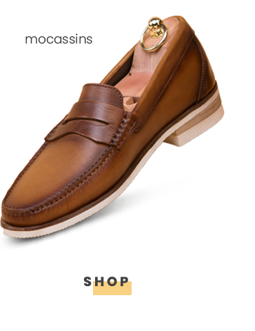 Two Tan Leather Moccasin