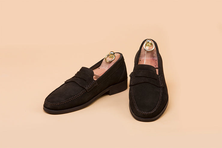 Coffee Brown Suede Moccasin