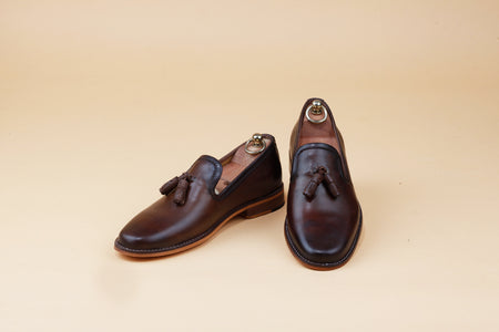 Dark Brown full grain Tassel Loafer