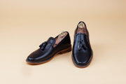 Carbon Black Full grain tassel loafer