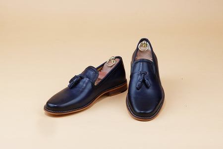 Navy Blue full grain Tassel Loafer