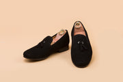 Vanta Black Suede Tassel Loafer