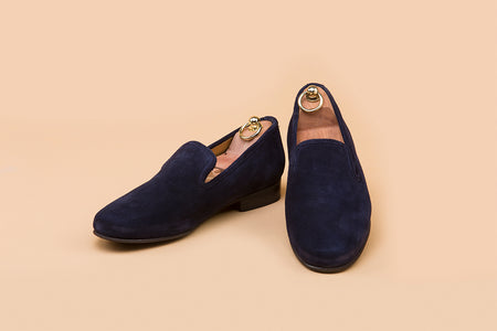 Midnight Blue Suede Loafer