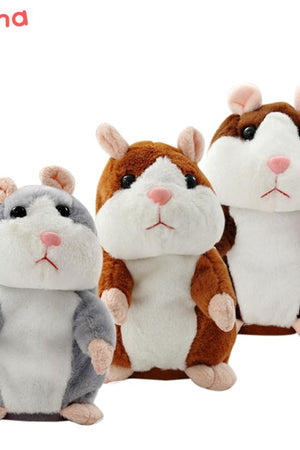 Lovely Talking Hamster Plush Stuffed Toy