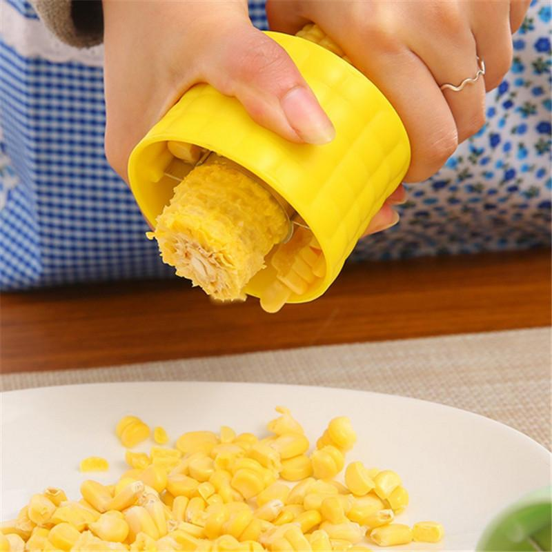 Creative Corn Cob Remover Peeler Corn Thresher Cutter