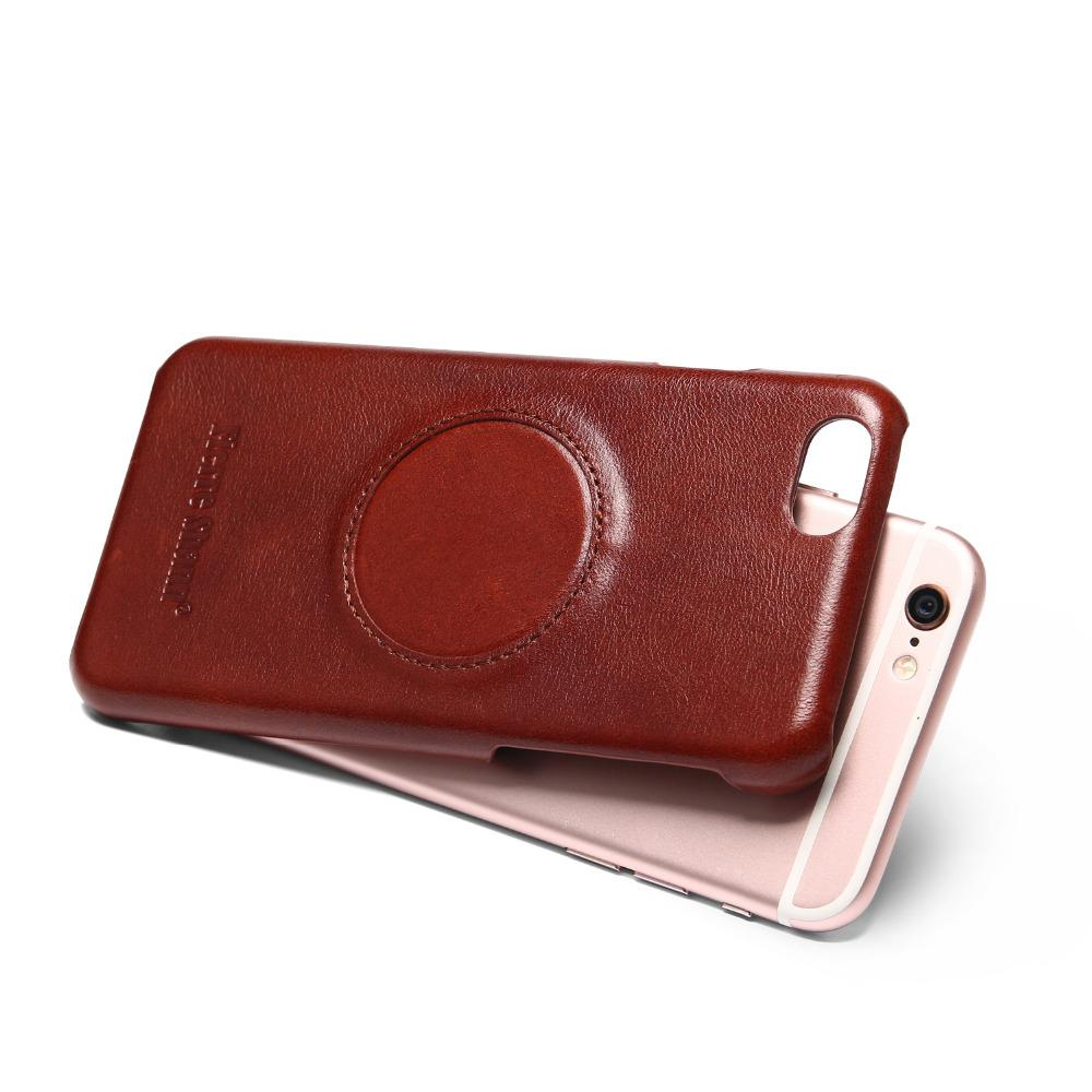 Leather Case With Built-in Magnet Sheet For iPhone 6s 7