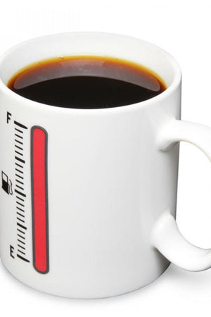 Fuel Gauge Heat Sensitive Thermometer Mug Ceramic Cup