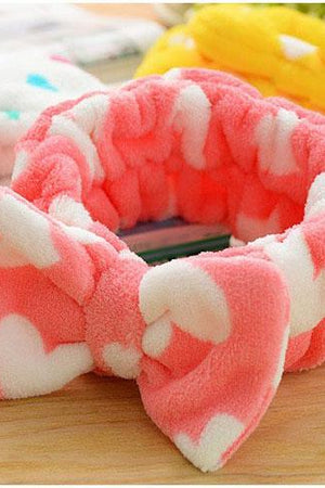 Big Bow Knot Makeup Headband Widened Hairdo