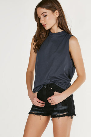 Alanna Streetwear Backless Tops Tees