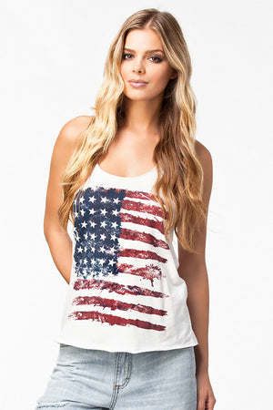Liberty American Flag Tops