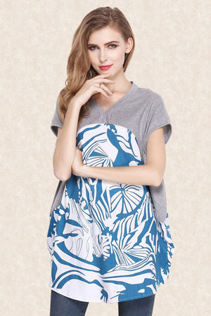 Joy Loose V-Neck Short Sleeve Fashion Tops