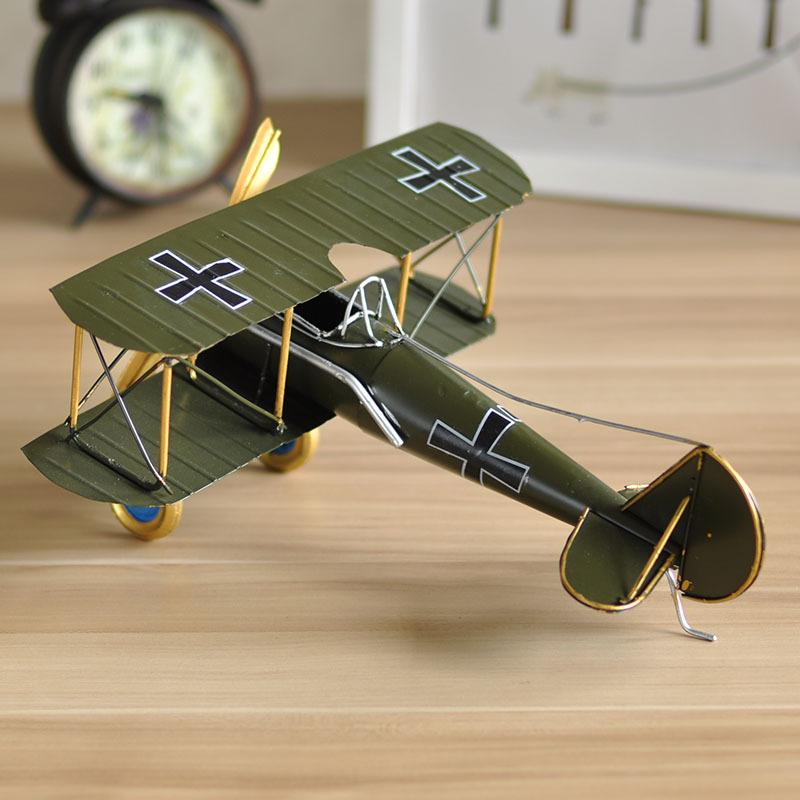 Retro Vintage Airplane Model Handmade Craft