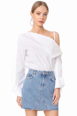 Marlee Off shoulder Strap Long Sleeve Tops