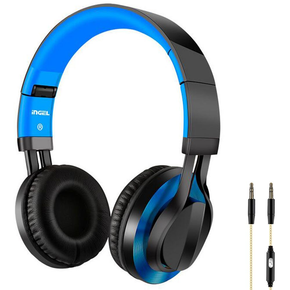 3.5mm AUX Wired Headphone HiFi music Foldable Stereo Heavy Bass