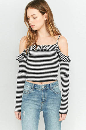 Hanna Fashion Off Shoulder Slim Top