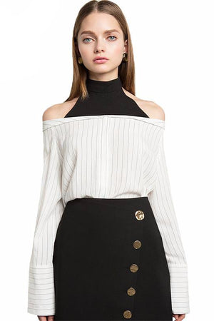 Elisa Long Sleeve Sexy Off Shoulder Tops