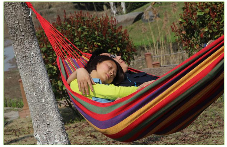 Outdoor Leisure Hanging Bed Double Sleeping Canvas Swing