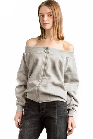 Francesca Off Shoulder Streetwear Tops