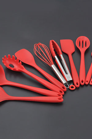 Silicone Kitchenware Rubber Spatula Shovel Cooking Tools 10pcs/Set