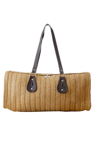 Vintage Large Tote Woven Straw Beach Handbags