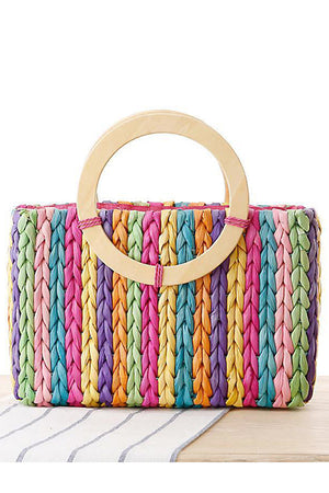 Woven Bag Hand Carry Beach Straw Casual Handbag