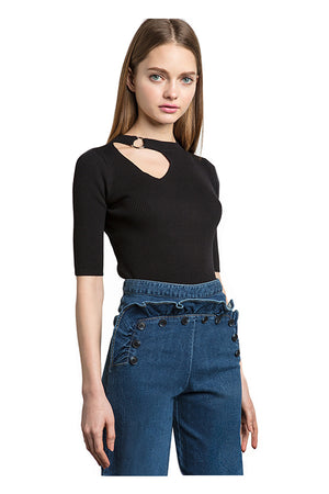 Jaylynn Choker Fashion Slim Tops