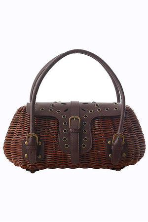 Vintage Style Woven Beach Shoulder Handbag