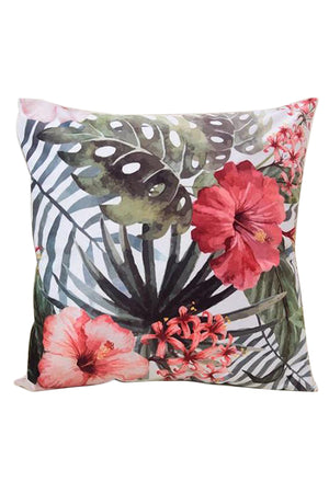 Flower Printing Cotton Linen Cushion Cover