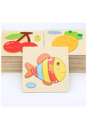 Educational Toys For Children Cartoon Wooden Puzzle
