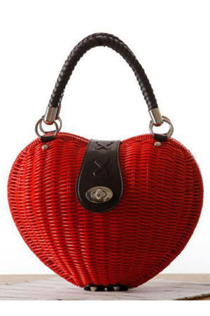 Straw Casual Rattan Knitting Beach Handbag