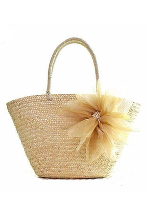 Flowers Series Straw Weave Beach Rattan Designer Bags