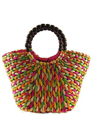 Vintage Tote Corn Bran Makes up Shoulder-bag