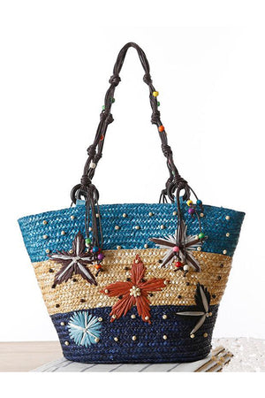 Fashion Embroidery Top-Handle Handbag