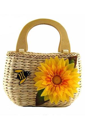 Cute Sunflower Beach Designer Handbags
