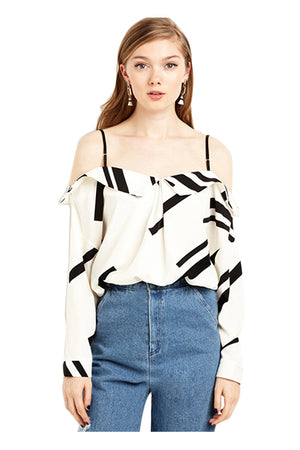 Viviana Blouse Off Shoulder Casual Tops