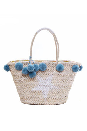 Straw Hand Knitting Women Beach Bag