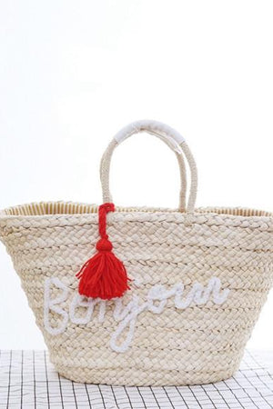 Margin Free Shop 1 / Large(Max Length>50cm) Straw bag Beach Bags Women Hand Knitting
