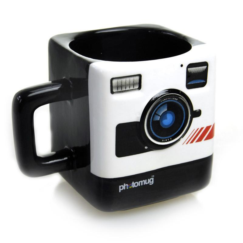 Margin Free Shop Mugs Ceramic Mug Camera Lens Mug Mustard Photo