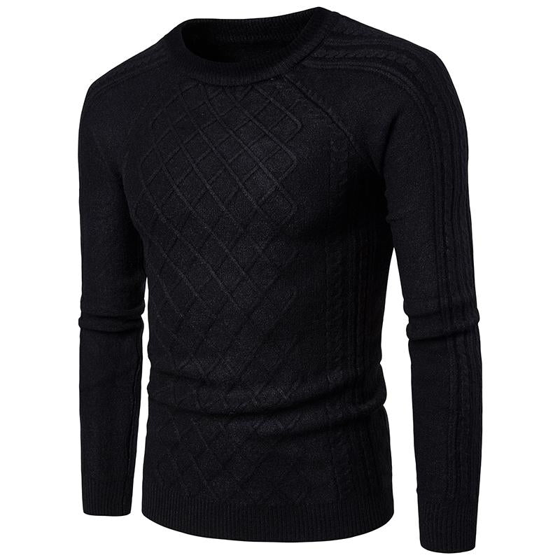 ADAM Casual O-neck Pullovers Slim Fit Sweater