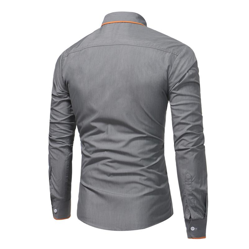 ALEXANDER Long-Sleeve Casual Slim Fit Shirt
