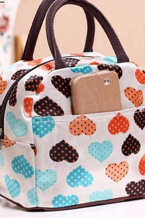 Shop Store Top-Handle Bags Stamp Waterproof Canvas Women Lunchbox Handbag