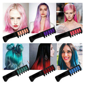 Temporary Mini Comb Dye Hair Kit (6 Pcs)