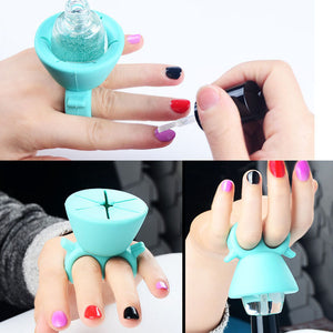 Candy Color Wearable Nail Polish Bottle Holder