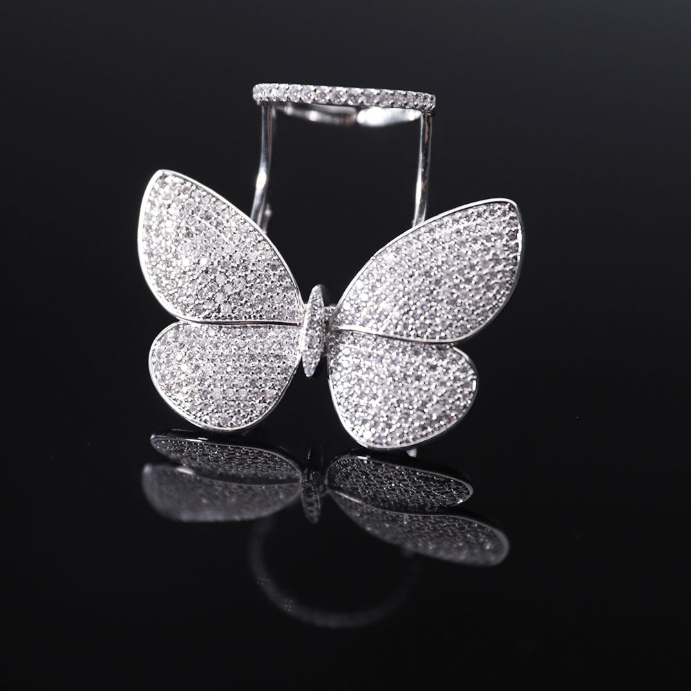 Movable Butterfly Ring