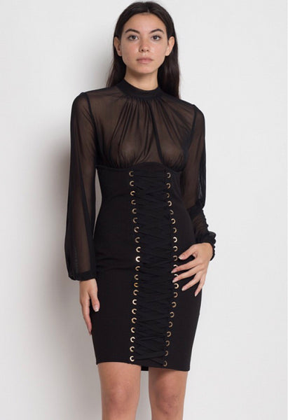 afa304d5b7c Lace Me Up Corset Dress