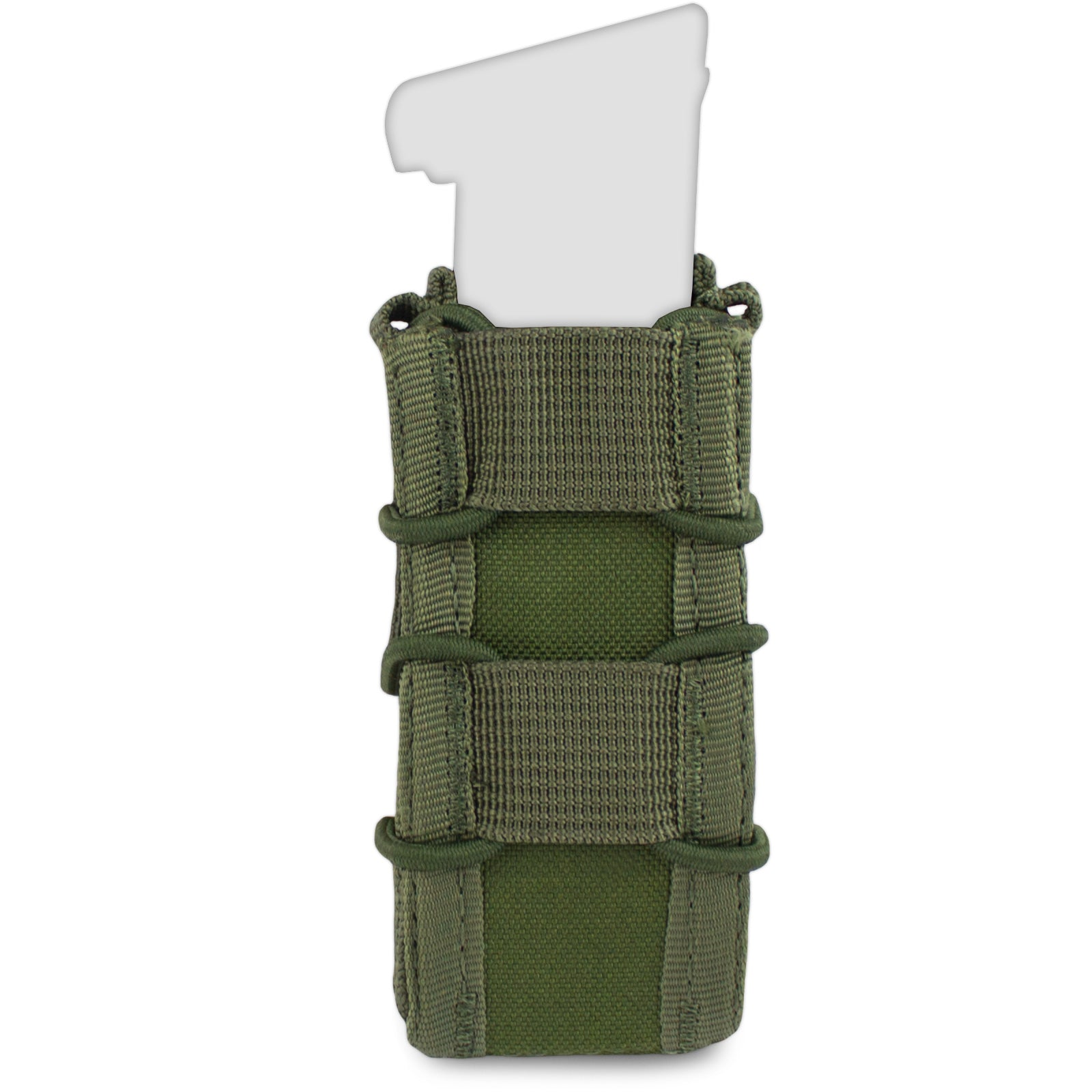 MOLLE Single Compressor Pistol Mag Pouch - Bulldog Tactical Gear