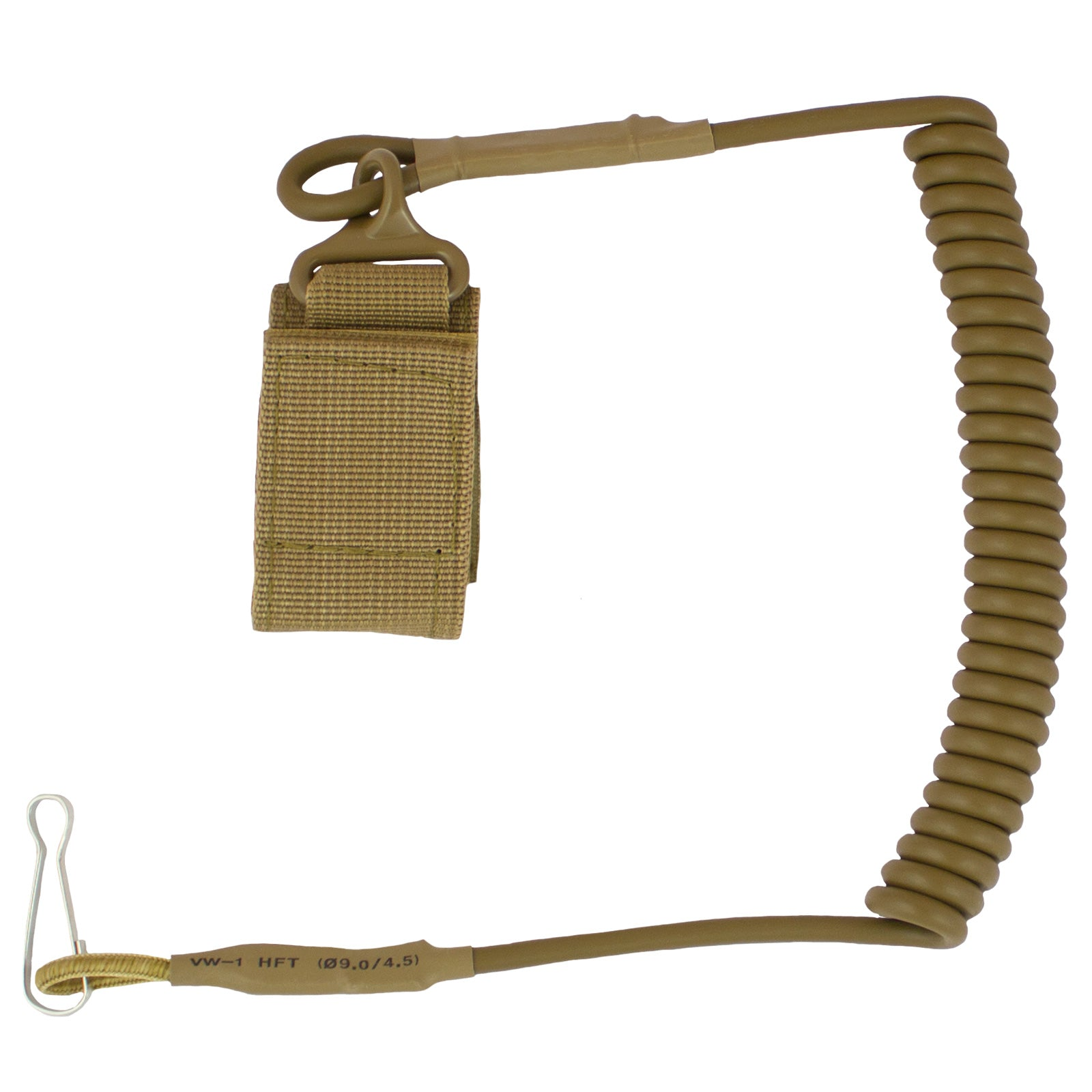 Secure Coiled Nylon Lanyard - Bulldog Tactical Gear
